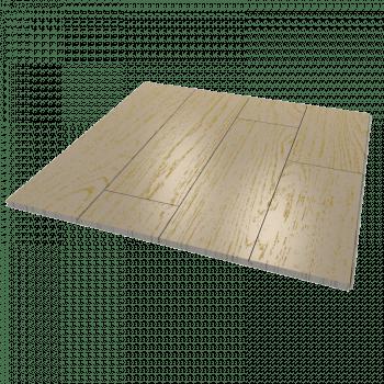 Масивная доска из беленого состаренного дуба с золотом