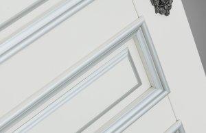 дверь Рим цвет Ваниль серебро