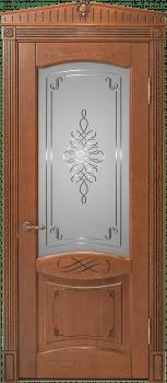 Дверь из массива Венеция остекленная